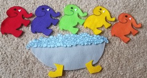 felt elephants-in-the-bathtub