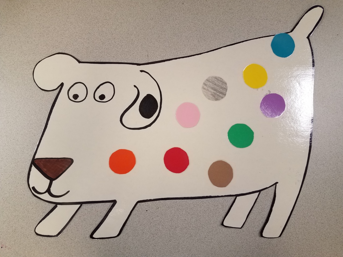 Dog's Colorful Day – MagnetBoard